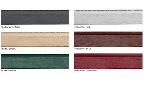 Fassaden Holzoptik Farben