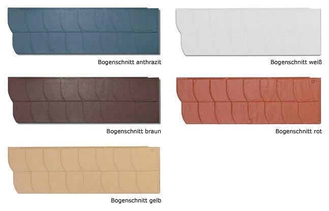 Kunstschiefer Fassade S-S3 Farben