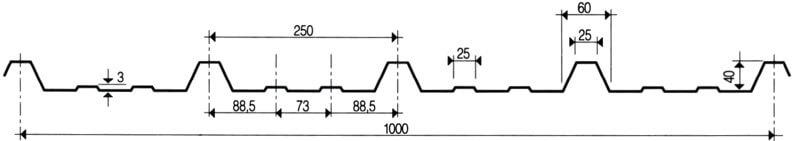 Trapezprofil LM 40