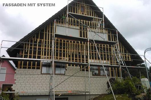 Neuaufbau Fassade