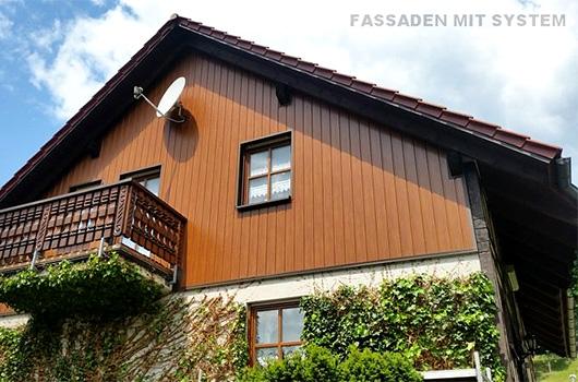 Fassadenverkleidung Holzoptik